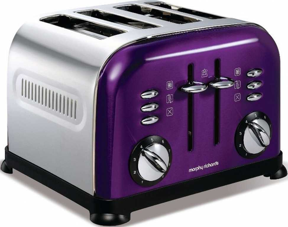 Morphy richards ACCENTS PURPLE 44737 FIOLETOWO-SREBRNY Toster
