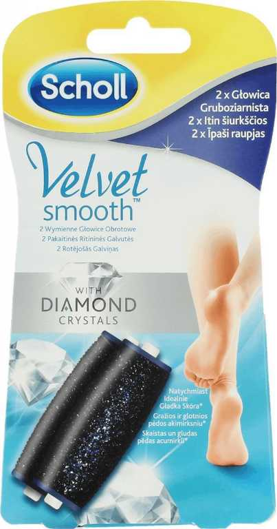 Scholl VELVET SMOOTH DIAMOND CRYSTAL 2 SZT.