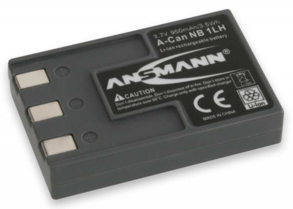 Ansmann Do Canon A-Can NB 1LH (950 mAh) Bateria