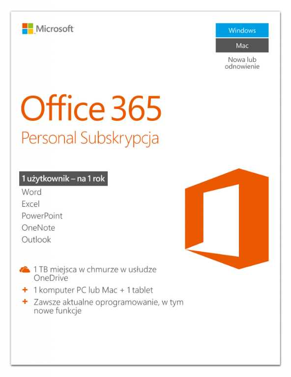 Microsoft Office 365 Personal Program