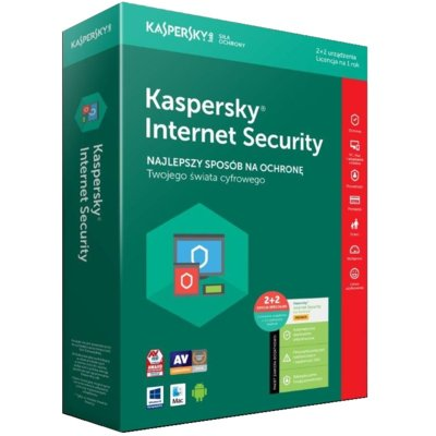 Program Kaspersky Internet Security (2 PC + 2 urządzenia Android, 1 rok)