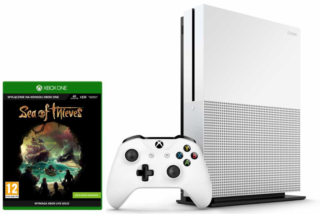 Microsoft Xbox One S + Sea Of Thieves + 6M Live Gold Konsola
