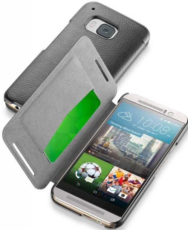 Cellular line Book Essential do HTC One M9 Czarny Etui
