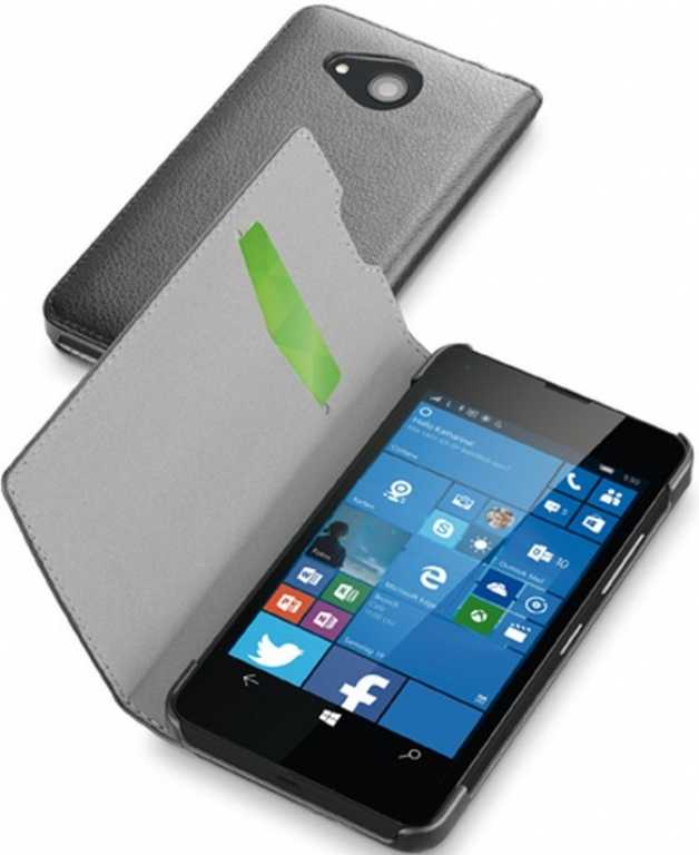 Cellular line Book Essential do Microsoft Lumia 550 Czarny Etui