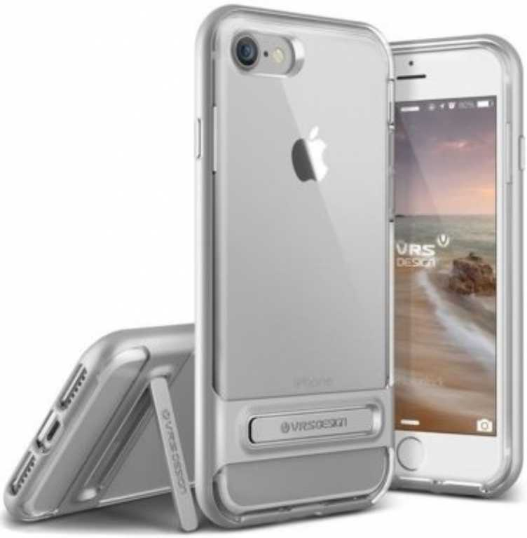 Vrs design Crystal Bumper do iPhone 7 Srebrno-stalowy Etui