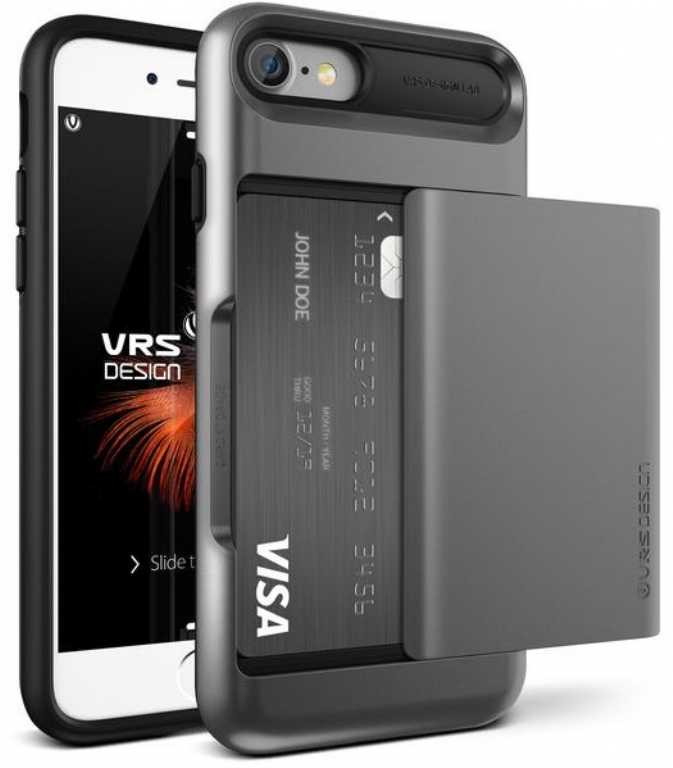 Vrs design Damda Glide do iPhone 7 Srebrno-stalowy Etui