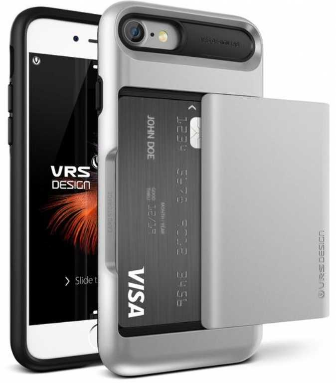 Vrs design Damda Glide do iPhone 7 Srebrny Etui