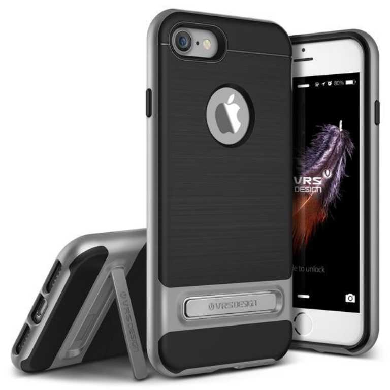 Vrs design High Pro Shield do iPhone 7 Srebrny Stalowy Etui