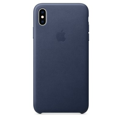 Etui APPLE Leather Case do Apple iPhone XS Max Nocny Błękit MRWU2ZM/A