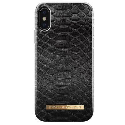 Etui IDEAL OF SWEDEN Fashion Case do Apple iPhone X Black reptile