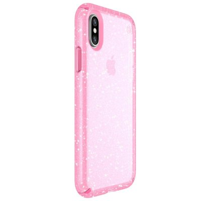 Etui SPECK Presidio Clear with Glitter Apple iPhone XR Różowy