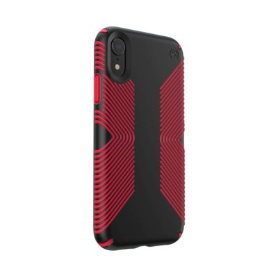 Etui SPECK Presidio Grip do iPhone XR czarno-czerwony