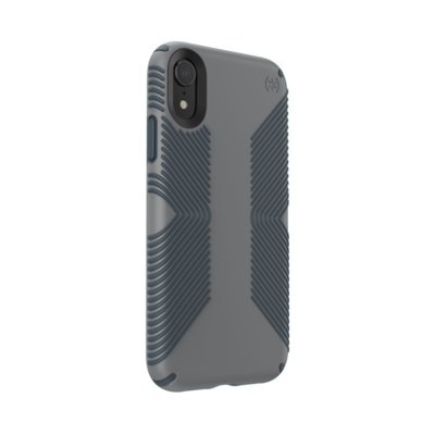 Etui SPECK Presidio Grip do iPhone XR szary