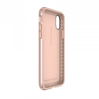 Etui SPECK Presidio Metallic do Apple iPhone X Różowozłoty