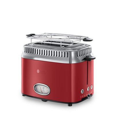 Toster RUSSELL HOBBS 21680-56 RETRO RIBBON RED
