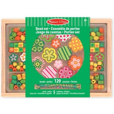 Drewniane koraliki do nawlekania MELISSA and DOUG kwiatuszki 14178
