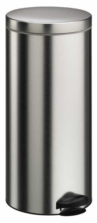 Meliconi Pedal Bin Brushed Steel 30L