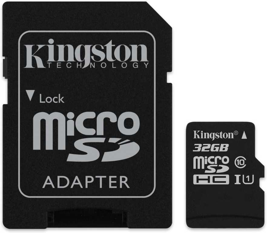 Kingston Canvas Select + SD adapter microSDHC 32GB Karta pamięci