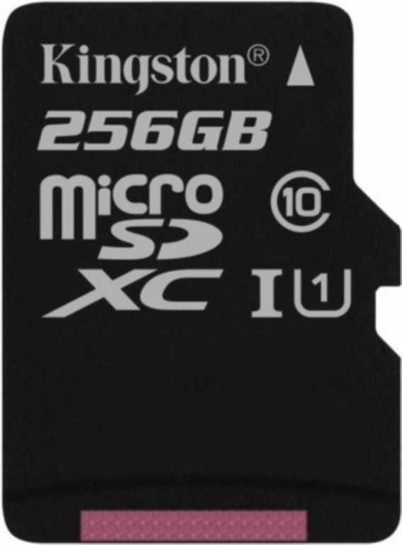 Kingston Canvas Select + SD adapter MICROSDXC 256GB Karta pamięci