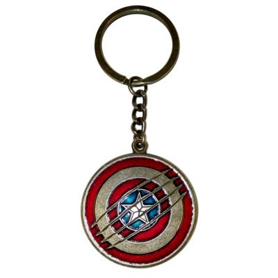 Brelok GOOD LOOT Marvel Civil War Captain America Shield Key Ring
