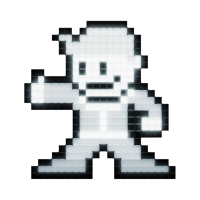 Lampka PDP Pixel Pals - Black and White Vault Boy