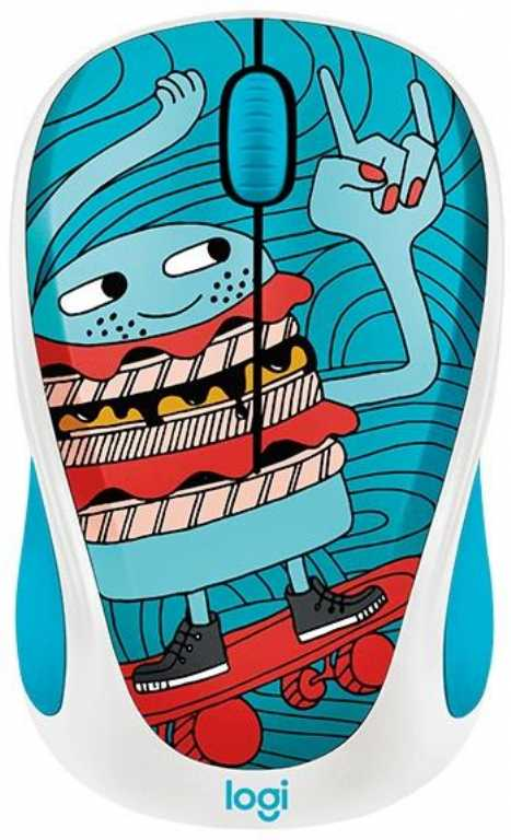 Logitech Doodle Collection Skateburger (910-005052) Mysz