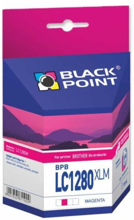 Blackpoint BPBLC1280XLM Brother LC1280M Purpurowy Tusz