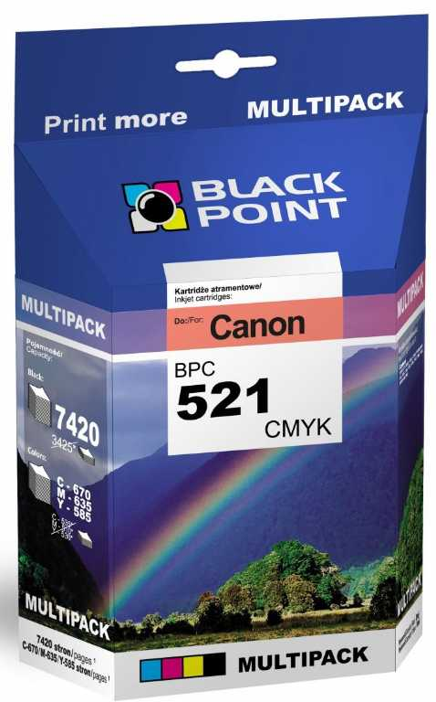 Blackpoint BPC521CMYK Canon CLI-521 BLIS Multipack Tusz
