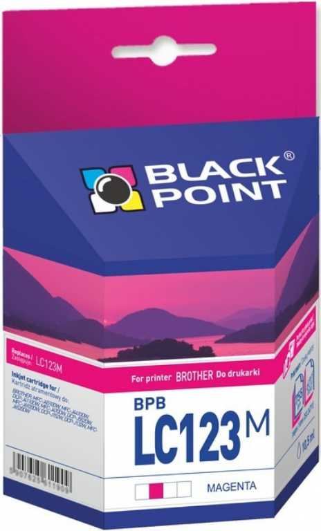 Blackpoint Brother LC123M Purpurowy Tusz