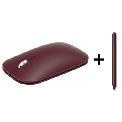 Mysz Bluetooth MICROSOFT Surface Mobile Mouse Burgundowy KGY-00016 + pióro Surface Pen Burgundowy EYU-00030