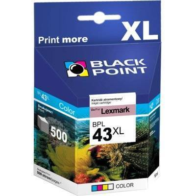 Tusz BLACK POINT BPL43XL Zamiennik Lexmark 18YX143E