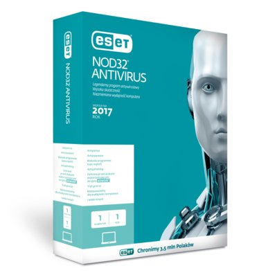 Program ESET NOD32 Antivirus 2017 (1 komputer, 1 rok)