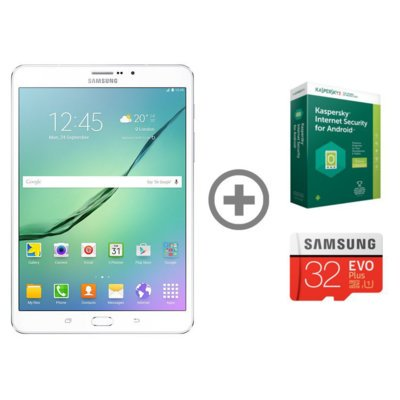Tablet SAMSUNG Galaxy Tab S2 8.0 LTE 32GB Biały SM-T719NZWEXEO + karta Samsung EVO 32GB + Kaspersky Internet Security for Android