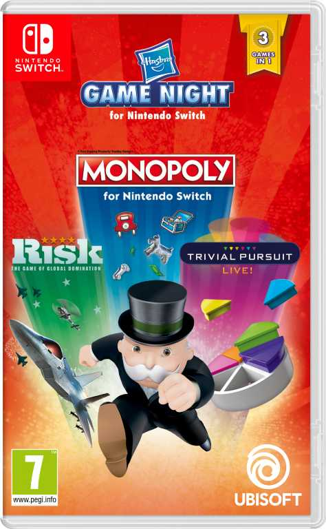 Ubisoft Hasbro Game Night (Monopoly + Risk + Trival Pursuit)