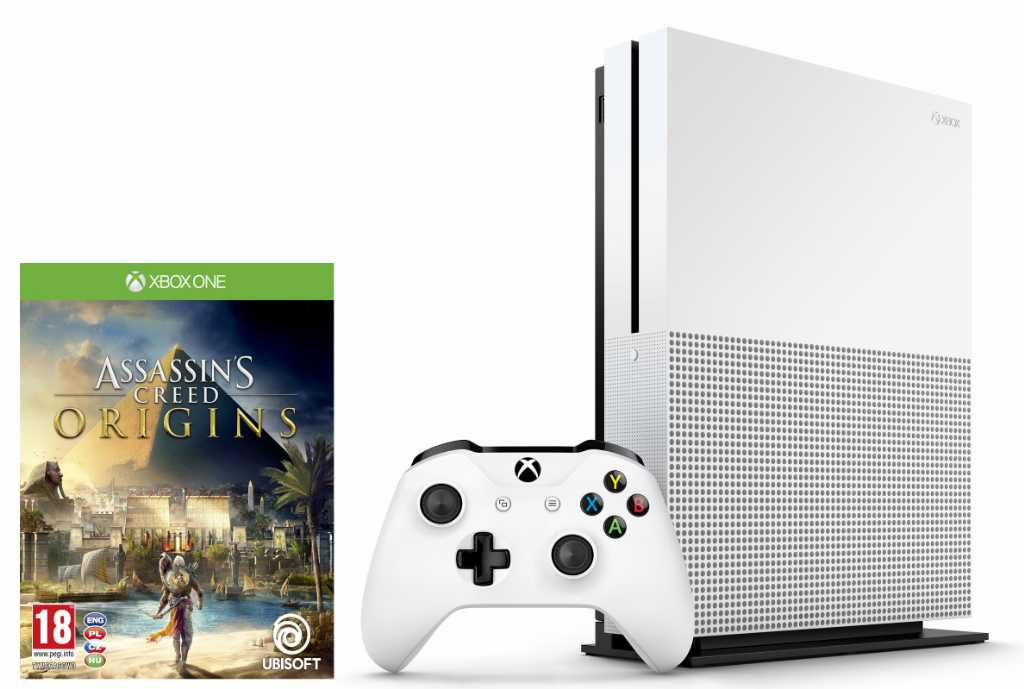Microsoft Xbox One S 500GB + Assassin's Creed Origins Konsola