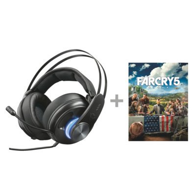 Zestaw słuchawkowy TRUST GXT 383 Dion 7.1 Bass Vibration Headset do PC/PS4/Xbox One + Gra PC Far Cry 5