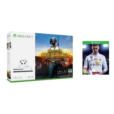 Konsola MICROSOFT Xbox One S 1TB + Playerunknown's Battlegrounds + FIFA 18 + 6 mies. Live Gold