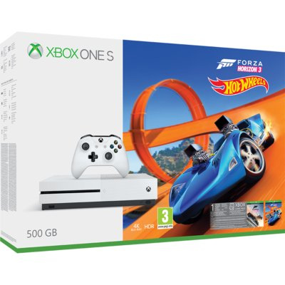 Konsola MICROSOFT Xbox One S 500 GB + Forza Horizon 3 + Dodatek Forza Horizon 3: Hot Wheels + Live Gold 6 m-cy