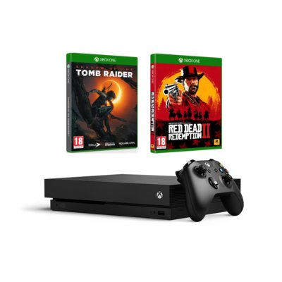 Konsola MICROSOFT Xbox One X + Shadow of the Tomb Raider + Red Dead Redemption 2