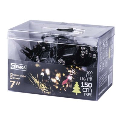 Lampki choinkowe EMOS 100 LED CHRISTMAS 5M IP20 WW ZYP0105
