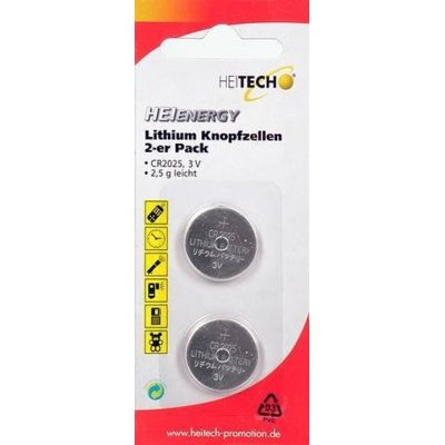 Bateria HEITECH Heienergy Lithium Button Cells 2 pc. pac. CR2025