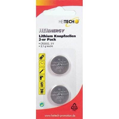 Bateria HEITECH Heienergy Lithium Button Cells 2 pc. pac. CR2032