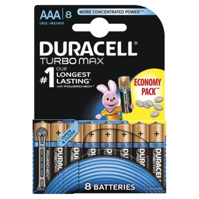 Baterie alkaliczne DURACELL Turbo Max AAA 8szt.