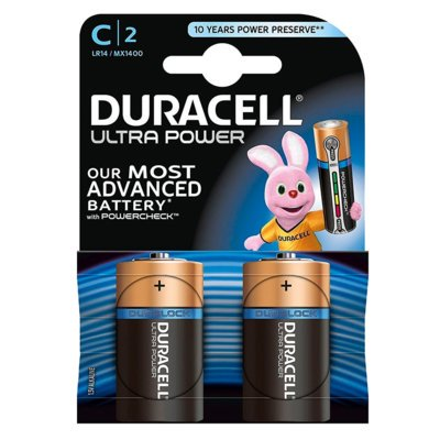 Baterie DURACELL Ultra Power C 2szt.