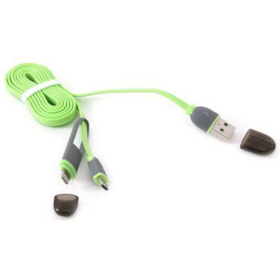 Kabel PLATINET 2 in 1 Universal USB Cable Zielony