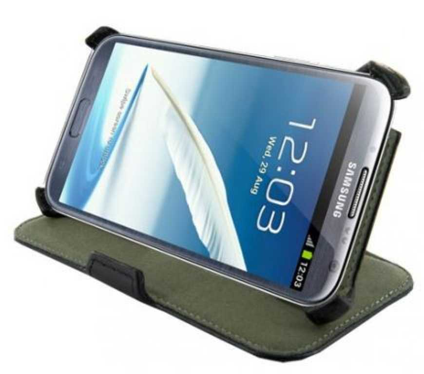 4world STAND DO GALAXY NOTE 2 CZARNY Etui