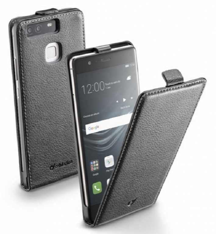 Cellular line Flap Essential do Huawei P9 Czarny Etui