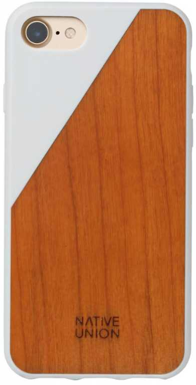 Design pool limited Clic Wooden do iPhone 7/8 Biały Etui
