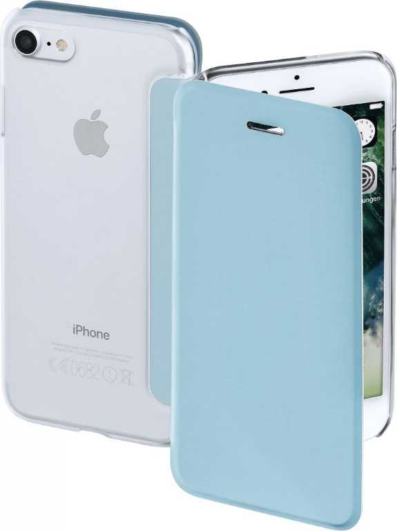 Hama Booklet Clear do Apple iPhone 7 Niebieski Etui