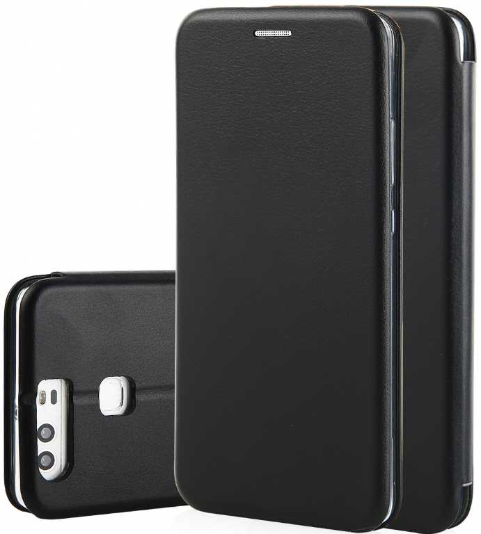 Qult Flip Case Round do Huawei P Smart Czarny Etui